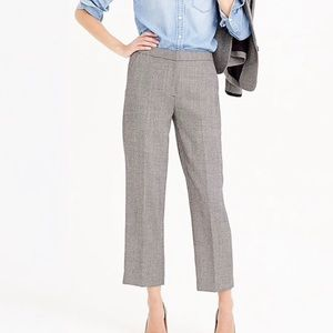 J. Crew Wool Patio Pants in Mini Dot